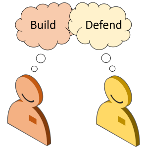 Builder versus Defender