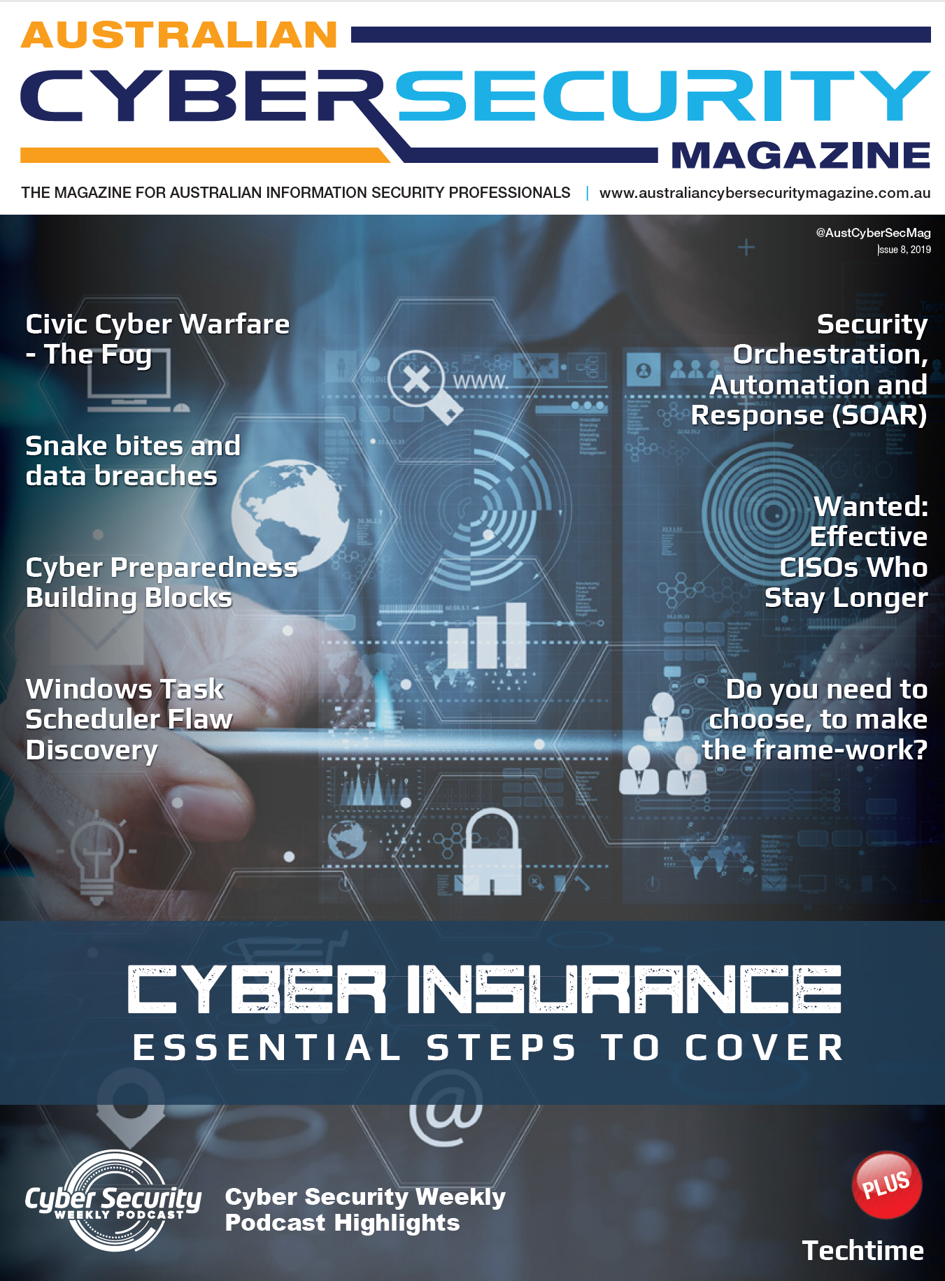 Australian Cyber Security Magazine Issue 8 2019 Cover